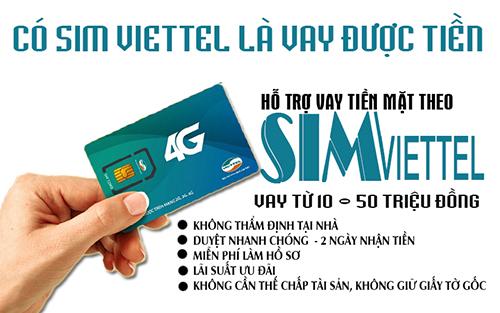 Cho vay tiền mặt tín chấp bằng sim Viettel lãi suất chỉ từ 1,5%